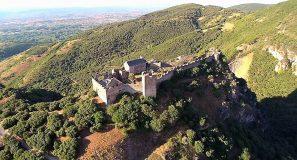Castillo de Cornatel a vista de dron