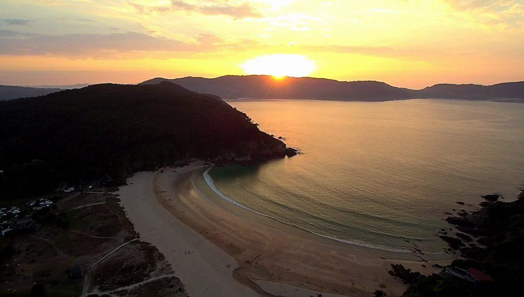 Playa de Xilloi (O Vicedo) a vista de dron