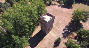 Torre de los Osorio a vista de dron